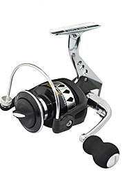 cheap -SHISHAMO Spinning reel Full Metal Body 5.5:1, 12+1 Ball Bearings with One Way Clutch Spinning Reel, Left & Right Hand Exchangble