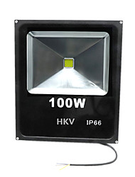 Недорогие -1 шт. Hkv® 100w 8850-9950lm 2800-3200k 6000-6500k теплый белый холодный белый светодиодный прожектор (ac 85-265v)