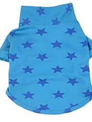 Perro Camiseta Ropa para Perro Bonito Estrellas Amarillo Fucsia Azul Disfraz Para mascotas