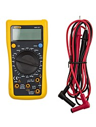 Stanley® MM-201-23C Digital Multimeter Electronic Measuring Instrument AC Voltage Detector Portable Ohm/Volt Test Meter Multi Tester with LCD Display