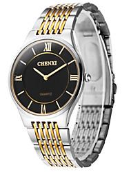 CHENXI® Pánské Náramkové hodinky Křemenný Japonské Quartz Hodinky na běžné nošení Nerez Kapela Stříbro Zlatá Bílá Černá