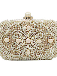 cheap -Women's Bags Polyester Evening Bag Imitation Pearl Crystal/ Rhinestone Acrylic Jewels for Wedding Event/Party Casual Formal Office &