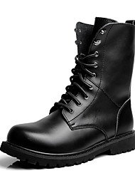 cheap -Men's Shoes Cowhide Fall / Winter Combat Boots / Bootie / Motorcycle Boots Boots Black