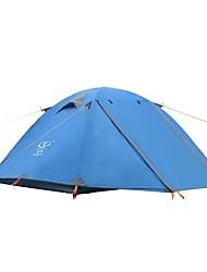 2 persone Tenda Doppio Tenda da campeggio Una camera Anti-pioggia Ultra leggero (UL) per Campeggio Viaggi CM