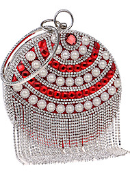 Women Bags PU Evening Bag Imitation Pearl Crystal/ Rhinestone Flower for Wedding Event/Party Casual Formal Office & Career Winter Spring