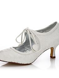 abordables -Femme-Mariage Extérieure Bureau & Travail Habillé Soirée & Evénement-Ivoire-Talon Aiguille-Confort Chaussures Dyeable-Chaussures de