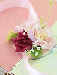 preiswerte -Hochzeitsblumen Armbandblume Hochzeit Party / Abend Verlobungsfeier Party/Cocktail Tüll Satin 3 cm ca.