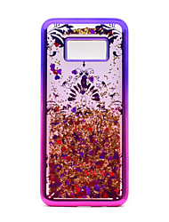 cheap -Case For Samsung Galaxy S8 Plus S8 Plating Flowing Liquid Pattern Back Cover Glitter Shine Lace Printing Soft TPU for S8 Plus S8 S7 edge