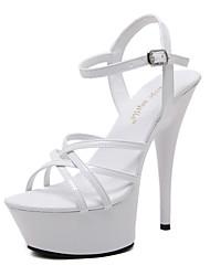 economico -Da donna Scarpe Finta pelle Estate Autunno Comoda Innovativo Suole leggere Club Shoes Sandali A stiletto Fibbia Per Matrimonio Serata e