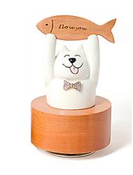 Недорогие -музыкальная шкатулка Игрушки Кошка Цилиндрическая Керамика Дерево Куски Универсальные Подарок