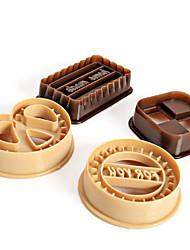Недорогие -4pcs / set набор для выпечки для печенья, пластиковая форма для выпечки, инструмент для выпечки