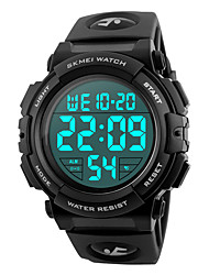 cheap -SKMEI Men's Sport Watch Military Watch Wrist Watch Japanese Digital 50 m Water Resistant / Water Proof Alarm Calendar / date / day PU Band Digital Fashion Black / Blue / Silver - Red Green Blue Two