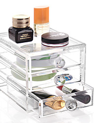 cheap -Acrylic Transparent Complex Combined Large Capacity Random Handle 3 Layer Makeup Cosmetics Storage Drawer Cosmetic Organizer Jewelry Display Box