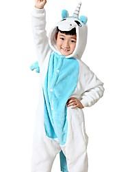 kigurumi Pyjamas Unicorn Costume Bleu Costumes de Cosplay Collant / Combinaison Cosplay Fête / Célébration Pyjamas Animale Halloween