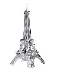 economico -Macchinine giocattolo Puzzle 3D Puzzle Modellini di metallo Giocattoli Carro armato Torre Edificio famoso Architettura 3D Metallo Unisex