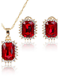 cheap -Women's Jewelry Set Pendants Bridal Jewelry Sets AAA Cubic Zirconia Classic Fashion Euramerican Simple Style Wedding Party Special