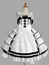 cheap -Sweet Lolita Dress Princess Lace Women's Girls' JSK / Jumper Skirt Cosplay Cap Sleeveless Short / Mini