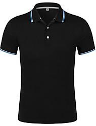 preiswerte -Herrn Gestreift - Aktiv Arbeit Baumwolle T-shirt, Hemdkragen