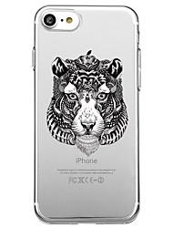 Pour iphone 7 plus 7 housse couverture éco-friendly transparent sac à dos enveloppe animal punk doux tpu pour iphone 6s plus 6s 6 5s se 5