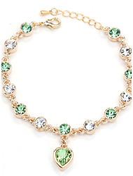 Mulheres Pulseiras em Correntes e Ligações Jóias Natureza Moda Vintage Confeccionada à Mão bijuterias Cristal Liga Forma Redonda Formato