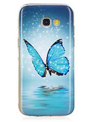 Carcasă Pro Samsung Galaxy A5(2017) A3(2017) Svítí ve tmě Vzor Zadní kryt Motýl Měkké TPU pro A3 (2017) A5 (2017) A5(2016) A3(2016)