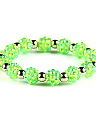 Men's Strand Bracelet Jewelry Fashion Punk Synthetic Gemstones Alloy Round Jewelry For Special Occasion Sports