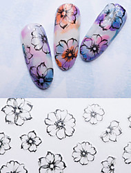cheap -Large Size Ultrathin 3D Fashion Flower Nail Sticker