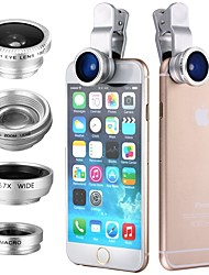 cheap -Clip 4in1 180 Fish Eye Wide angle  Micro Telephoto Lens for itouch ipad iPhone Samsung HTC