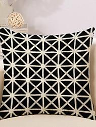 1 Pcs Personality Triangular Lattice Pattern Pillow Cover Square Pillowcase Cotton/Linen Cushion Cover