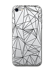 Per iPhone X iPhone 8 Custodie cover Fantasia/disegno Custodia posteriore Custodia Mattonella Geometrica Morbido TPU per Apple iPhone X