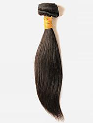 cheap -50g/1Pcs 8-28inch Peruvian Virgin Straight Hair Natural Black Human Hair Weaves Weft.