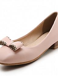 baratos -Mulheres Sapatos Courino / Couro Ecológico Verão / Outono Conforto / Inovador / Sapatos formais Saltos Caminhada Salto Robusto Ponta