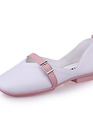 Women's Loafers & Slip-Ons Comfort Polyester Spring/Fall Summer Casual Dress Comfort Buckle Flat Heel Light Blue Blushing Pink Flat