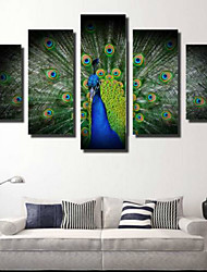 cheap -Rolled Canvas Prints Modern/Contemporary, Five Panels Horizontal Print Wall Decor Home Decoration