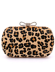 cheap -Women Bags Other Leather Type Evening Bag Leopard Rhinestone for Wedding Birthday Event/Party Business Casual Stage Formal Party &