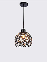 cheap -Max 60W Modern Crystal Pendant Light Mini Style Painting Metal Living Room Bedroom Dining Room Kitchen Lighting Fixture