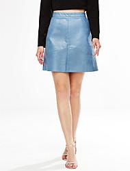 preiswerte -Damen A-Linie Röcke - Solide, Gitter