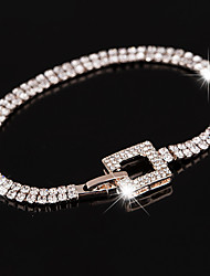 Women's  Chain Bracelet Tennis Bracelet Crystal AAA Cubic Zirconia Fashion Luxury  Gold Plated Circle Jewelry For Wedding Party