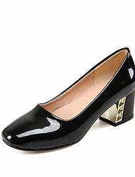 Women's Heels Fashion Leatherette Spring Summer Graduation Thank You Business Daily Fashion Chunky Heel White Black Ruby Blushing Pink5in