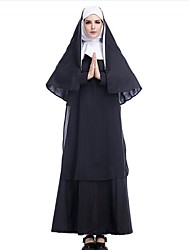 cheap -Nun Cosplay Costume Career Costumes Women's Christmas Halloween Carnival Oktoberfest New Year Festival / Holiday Halloween Costumes Solid