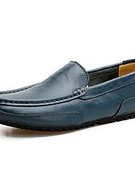 Herren Schuhe Leder Frühling Sommer Mokassin Loafers & Slip-Ons Für Normal Schwarz lichter Ocker Blau