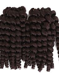 Недорогие -Pre-петлевые вязания крючком плетенки Косы 8 дюйм Волосы в ямайском стиле Китай Темно-рыжий Черный / Клубника Blonde Черный / Medium