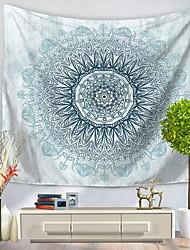 Недорогие -Цветы Абстракция Декор стены 100% полиэстер Художественный Узор Предметы искусства, Стена Гобелены Украшение