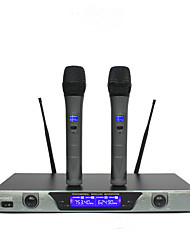 cheap -Professional Wireless System With Dual Handheld Wireless Microphone Stage Karaoke