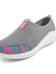 economico -Per donna Scarpe Tulle Primavera / Estate Moderno / Comoda scarpe da ginnastica Footing Piatto Punta tonda Grigio / Viola / Fucsia