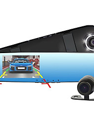 cheap -New Full HD 1080P Dash Cam Car Dvr Camera Mirror With Dual Lens Video Recorder Auto Dvrs Rearview Cameras 6 Led Light
