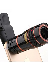 cheap -Universal HD 8X Adjustable focus Optical Telescope Mobile Phone Camera Lens with Clip Suitable for iPhone and Android Phones