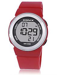 Недорогие -Жен. Детские Спортивные часы Смарт Часы Цифровой Защита от влаги Фосфоресцирующий Pезина Группа Белый Синий Красный Фиолетовый