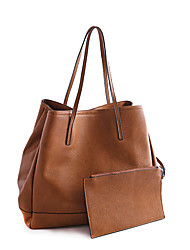 preiswerte -Damen Taschen PU 2 Stück Geldbörse Set für Normal Frühling Schwarz Braun