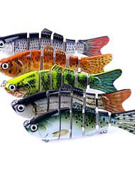 """economico -5 pc Jerkbaits Pesciolini Luccio g/Oncia,100mm mm/7"""" pollice Pesca di mare Spinning Pesca a jigging Pesca di acqua dolce Pesca di carpe"""